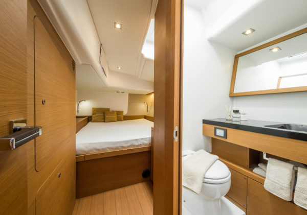 Forlì, Italy, 27 May 2016. The new Grand Soleil 58 no. 1 by Cantiere del Pardo. Interior layout. Ph: Guido Cantini /Sea&See